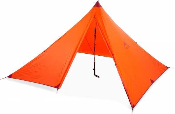 MSR Front Range ultraleichtes Planenzelt für 4 Personen orange