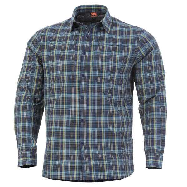 Pentagon QT taktisches Shirt blau kariert