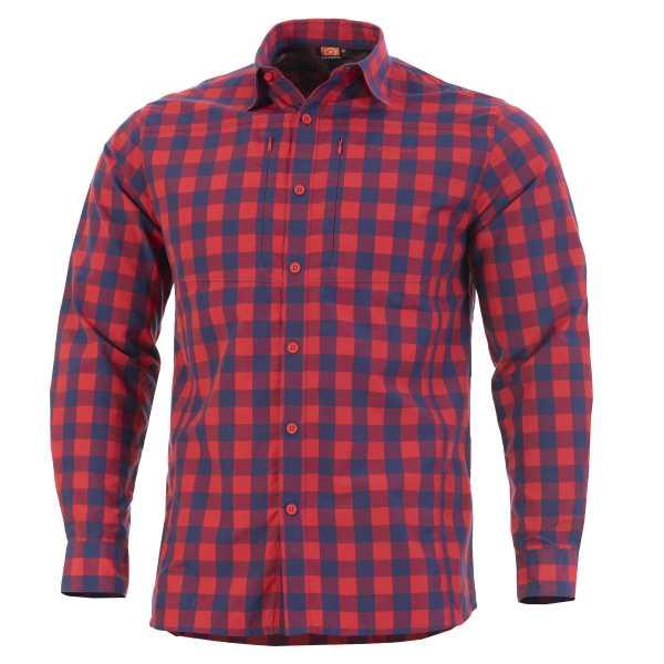 Pentagon QT taktisches Shirt rot kariert