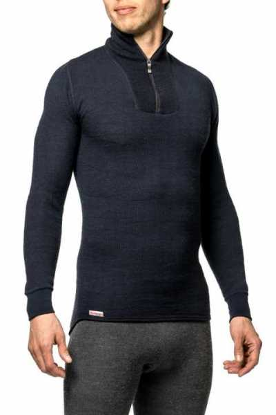 Woolpower Zip Turtle Neck 200 navy