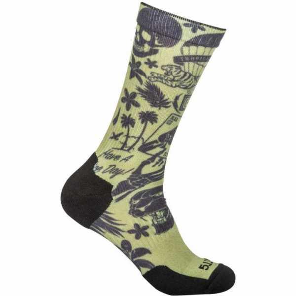 Socken Tropical, grün