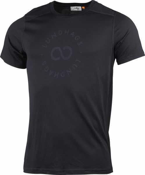Lundhags Gimmer Merino T-Shirt Ms Sigill Tee, schwarz