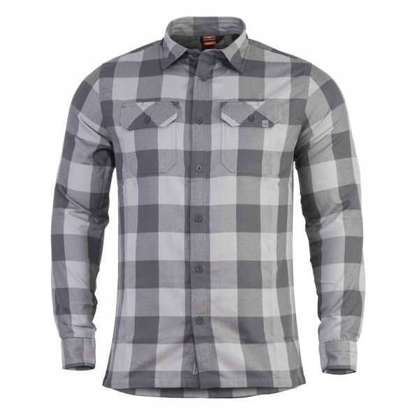 Pentagon Drifter Flannel Shirt grau kariert