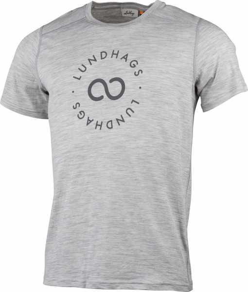 Lundhags Gimmer Merino T-Shirt Ms Sigill Tee, grau