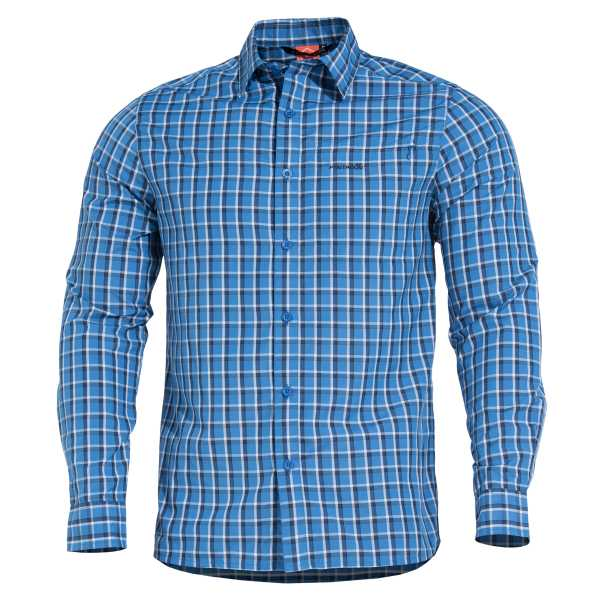 Pentagon Snoop Long Shirt blau kariert